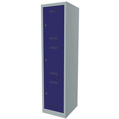 Bisley MonoBloc™ Schließfachschrank - 1 Abteil Breite 400 mm, 3 Fächer