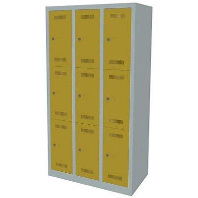 Bisley MonoBloc™ Schließfachschrank - 3 Abteile Breite 300 mm, 9 Fächer