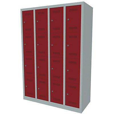 Bisley MonoBloc™ Garderobenschrank - 4 Abteile Breite 300 mm, 16 Fächer