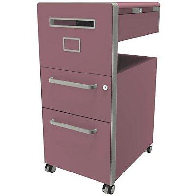 Bisley Assistenzmöbel Bite® - linksseitig öffnend, Pinnwand, 1 Universalschublade, 1 HR-Schublade
