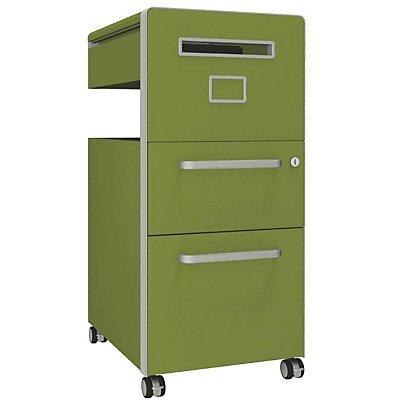 Bisley Assistenzmöbel Bite® - rechtsseitig öffnend, Pinnwand, 1 Universalschublade, 1 HR-Schublade