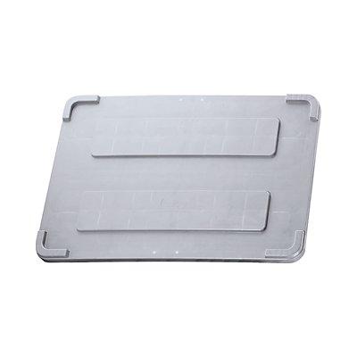 Deckel für Großbehälter mit überkragendem Rand - grau