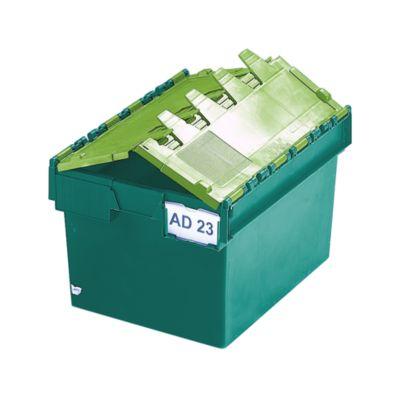 Mehrweg-Stapelbehälter mit Klappdeckel - Inhalt 54 Liter, Außenmaße LxBxH 600 x 400 x 320 mm