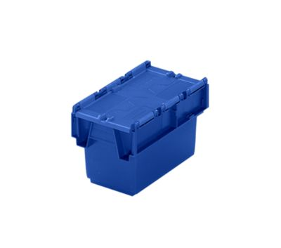 Mehrweg-Stapelbehälter mit Klappdeckel - Inhalt 6 l, LxBxH 300 x 200 x 200 mm