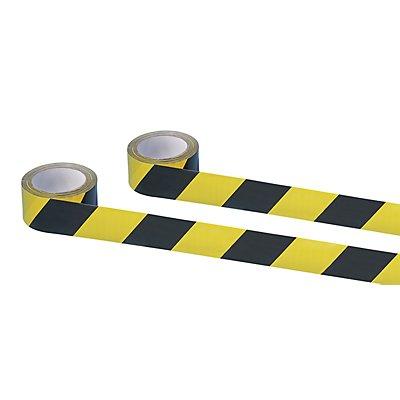MORAVIA Selbstklebendes Warn- und Markierungsband - Farbe gelb / schwarz