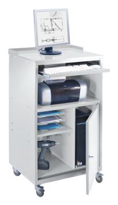 QUIPO PC Stehpult, fahrbar - HxBxT 1170 x 690 x 590 mm