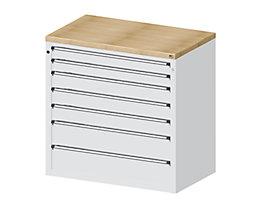 Material- und Werkzeugausgabetheke - 2 Schubladen 90 mm, 3 Schubladen 120 mm, 2 Schubladen 180 mm