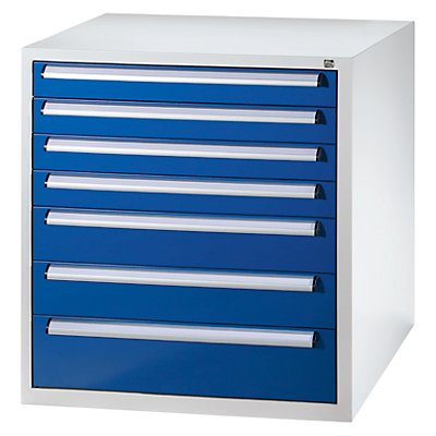 QUIPO Werkzeugschrank - Höhe 1000 mm, Schubladen 4 x 100, 2 x 150, 1 x 200 mm