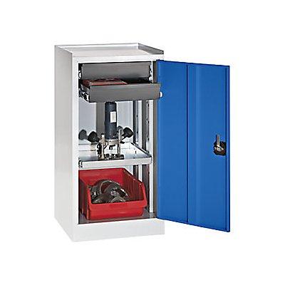 QUIPO Werkzeug- und Beistellschrank - 2 Schubladen, 1 Fachboden