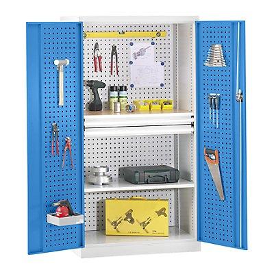 Werkzeugschrank - Türinnenseiten und Rückwand mit Lochprägung