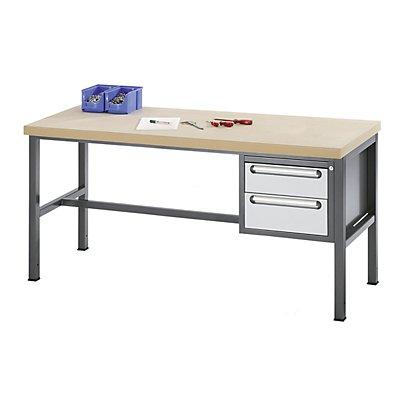 RAU Werkbank mit MDF-Platte - 2 Schubladen, 1 x 150, 1 x 180 mm hoch