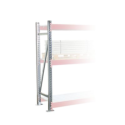 Schwerlastregal-Stützrahmen - Rahmenhöhe 3000 mm