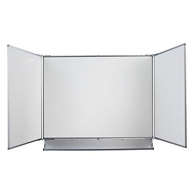 QUIPO Tableau mural pliable - l x h ouvert 2400 x 900 mm - largeur tableau de base 1200 mm