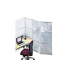 office akktiv Design-Paravent - HxB 1.800 x 1.000 mm - ESG-Glas weiß matt