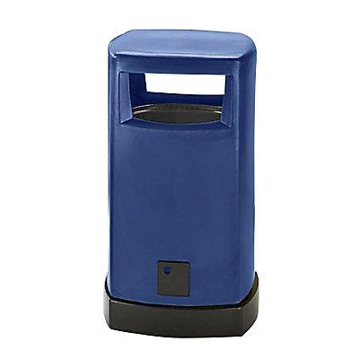 Collecteur de déchets en plastique, pour l'extérieur - capacité 80 l