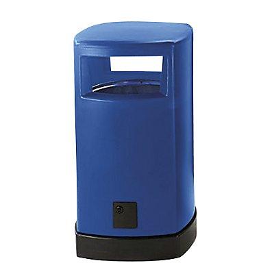 Collecteur de déchets en plastique, pour l'extérieur - capacité 120 l