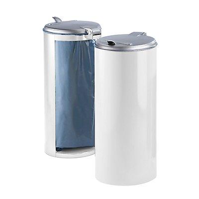 Stahlblech-Abfallsammler für 120-l-Sack - Front verblendet