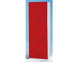 Garderobenschrank - 6 Fächer, 1800 x 600 x 500 mm
