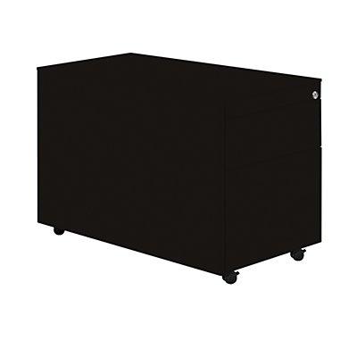 Mauser Schubladencontainer mit Rollen - HxT 570 x 800 mm, Stahlplatte, 2 Schubladen