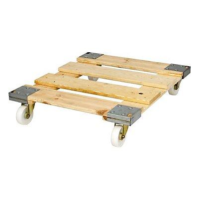 E.S.B. Rollplatte, Holz, Tragfähigkeit 500 kg, Gewicht 13 kg