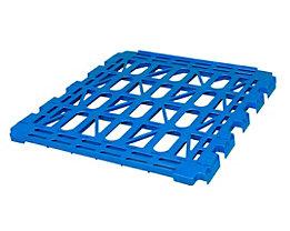 E.S.B. Zwischenboden für Rollbehälter, 3-seitig, enzianblau, Breite 620 mm