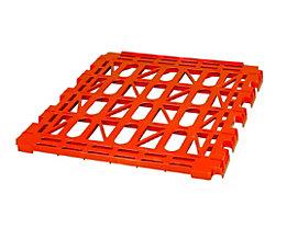 E.S.B. Zwischenboden für Rollbehälter, 3-seitig, feuerrot, Breite 620 mm
