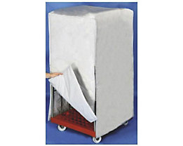 E.S.B. Abdeckhaube für Rollbehälter, LxBxH 730 x 820 x 1460 mm, weiß