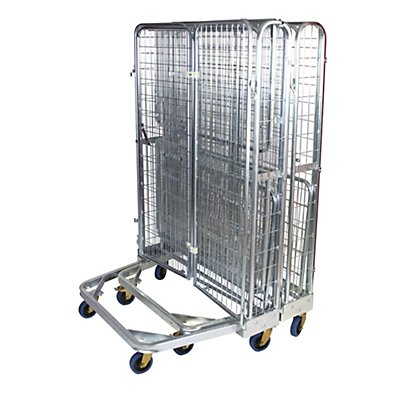 E.S.B. Nestbarer Metallbehälter, mit 2 Türen, Tragfähigkeit 500 kg