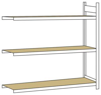 weitspannregal mit spanplatte h he 2000 mm spannweite. Black Bedroom Furniture Sets. Home Design Ideas