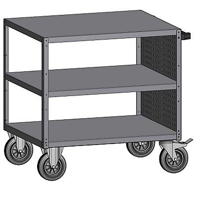 Montagehilfswagen, 3 Etagen - mit Lochwand