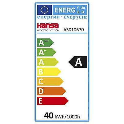 LED-Deckenleuchte, Höhe 46 mm, lichtgrau