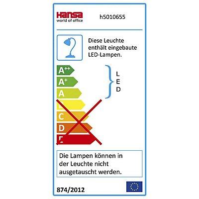 Hansa LED-Schreibtischlampe TWIST - dimmbar, mit USB-Anschluss