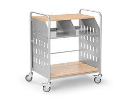 Eurokraft Bürowagen - Büro-Beistellwagen mit 3 Etagen und Fächerteilung
