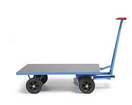 EUROKRAFT Handpritschenwagen - Tragfähigkeit 500 kg - Ladefläche 1250 x 800 mm, Vollgummireifen
