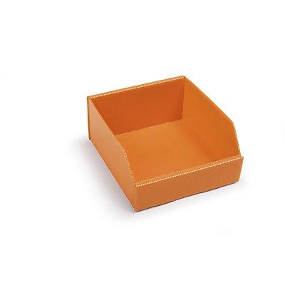 kbins Kunststoff-Regalkasten, faltbar - LxBxH 225 x 200 x 100 mm