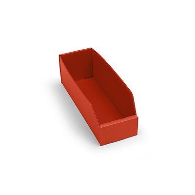 kbins Kunststoff-Regalkasten, faltbar - LxBxH 300 x 100 x 100 mm