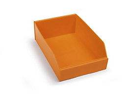 Kunststoff-Regalkasten, faltbar - LxBxH 300 x 200 x 100 mm - orange, VE 25 Stk