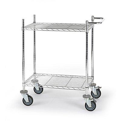 Drahtgitter-Tischwagen - mit Fachböden, LxBxH 760 x 460 x 1025 mm