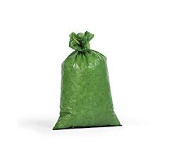 Kunststoffsäcke - Inhalt 70 l, BxH 575 x 1000 mm, VE 250 Stk - Materialstärke 55 µm, grün
