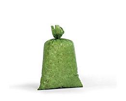 Sacs plastique - capacité 70 l, l x h 575 x 1000 mm, lot de 250 - épaisseur matériau 40 µm, vert