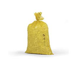 Kunststoffsäcke - Inhalt 70 l, BxH 575 x 1000 mm, VE 250 Stk - Materialstärke 40 µm, gelb