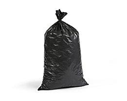 Kunststoffsäcke - Inhalt 70 l, BxH 575 x 1000 mm, VE 250 Stk - Materialstärke 40 µm, schwarz