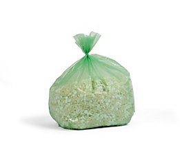 Abfallsäcke aus Polyethylen - Inhalt 240 l - grün-transparent, VE 100 Stk