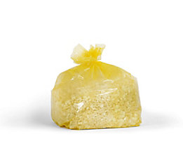 Abfallsäcke aus Polyethylen - Inhalt 240 l - gelb-transparent, VE 100 Stk