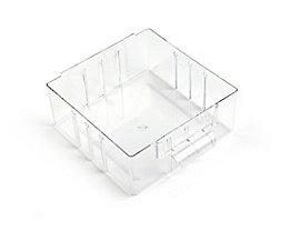 Schublade glasklar, Polystyrol - HxBxT 63 x 140 x 157 mm - VE 4 Stk