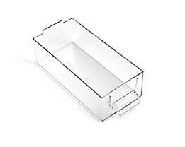 Schublade glasklar, Polystyrol - HxBxT 58 x 80 x 184 mm - VE 20 Stk