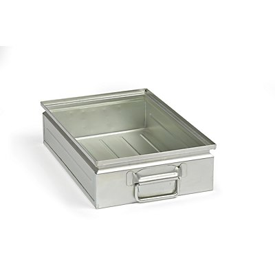 Stapelkasten aus Stahlblech - Inhalt ca. 15 l