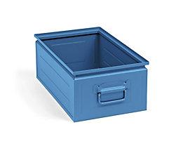 Stapelkasten aus Stahlblech - Inhalt ca. 30 l, lichtblau RAL 5012