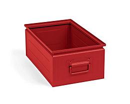 Stapelkasten aus Stahlblech - Inhalt ca. 30 l, feuerrot RAL 3000