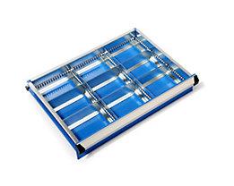 Schubladeneinteilungs-Set - Schrankbreite x -tiefe 600 x 450 mm - Höhe 75 mm, 9 Fächer
